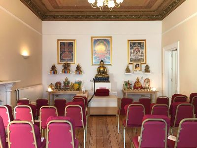 The Gompa (Meditation Room) at KMC Liverpool