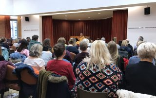 Gen Jigme teaching at the Quaker Meeting House