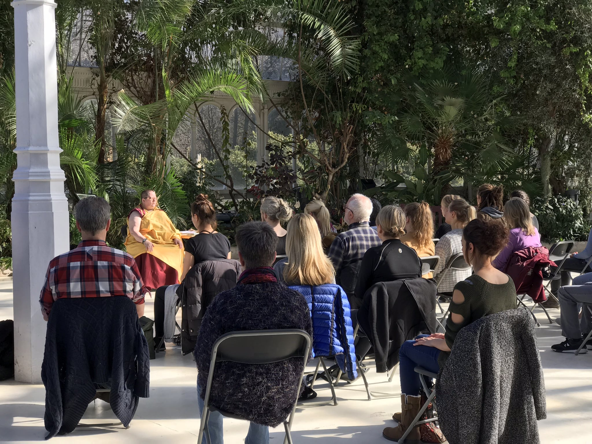 Meditation in the Palm House